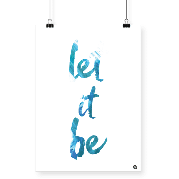 Poster Let it Be A4 - Fofys