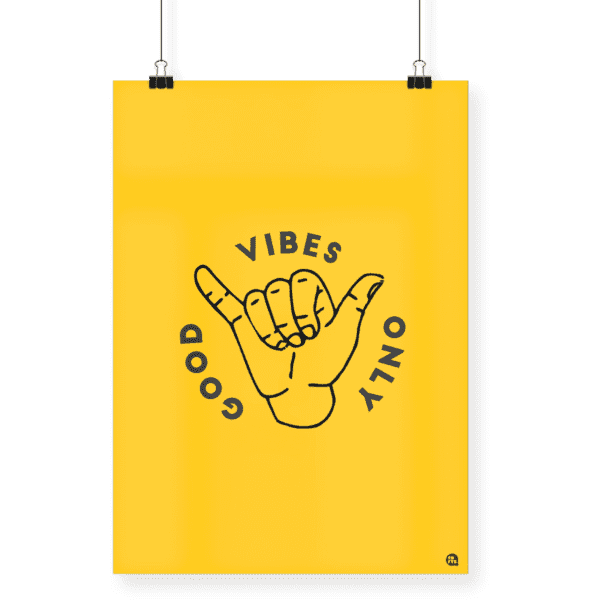 Poster decorativo good vibes - Fofys