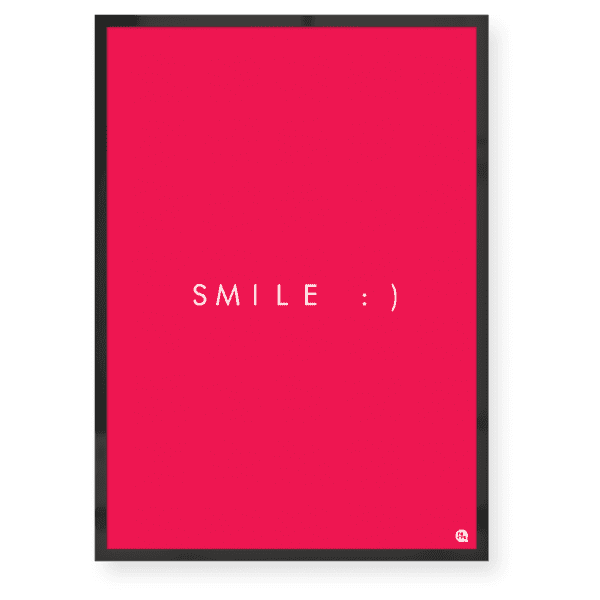 Quadro decorativo Smile Pink - Fofys