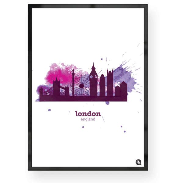 Quadro decorativo Londres - Aquarela