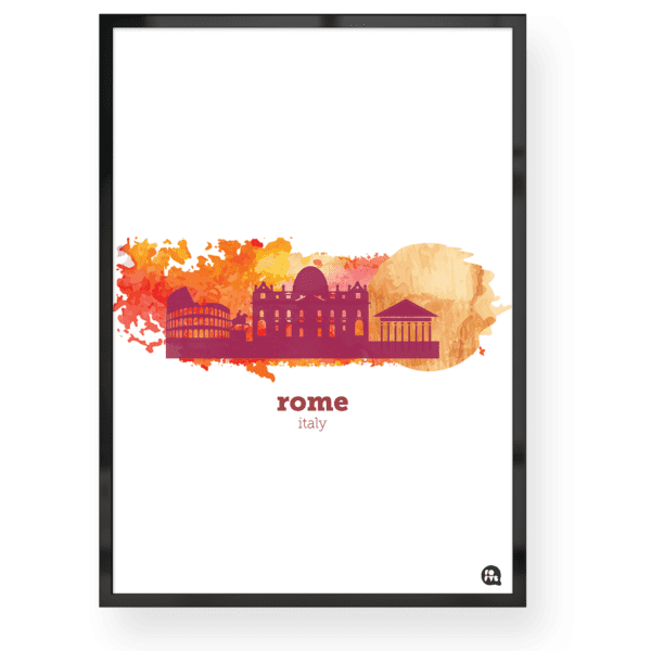Quadro decorativo Roma Aquarela